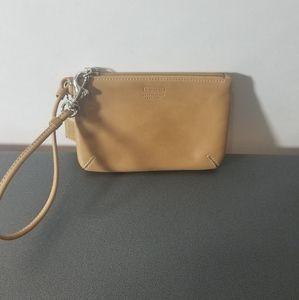 Coach Leatherware Leather Mini Tan Wristlet